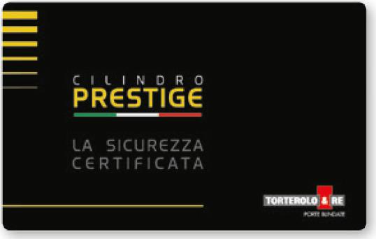 Serrature - la tessera Prestige